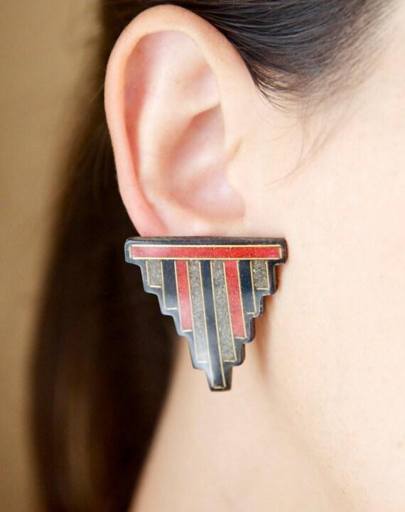 1980's Art Deco Style Earrings