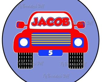 Personalized RACE CAR Boy T shirt for Birthday party or event Racing Name ANY color background