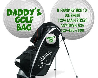 Personalized GOLF Bag tag Luggage ID Tag Fiberglass custom name number sports