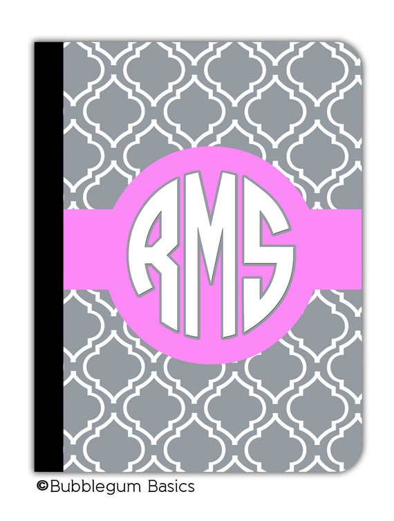 CUSTOM Personalized IPAD 2 3 New cover book booklet style case monogrammed ANY color Moroccan pattern design any color monogram