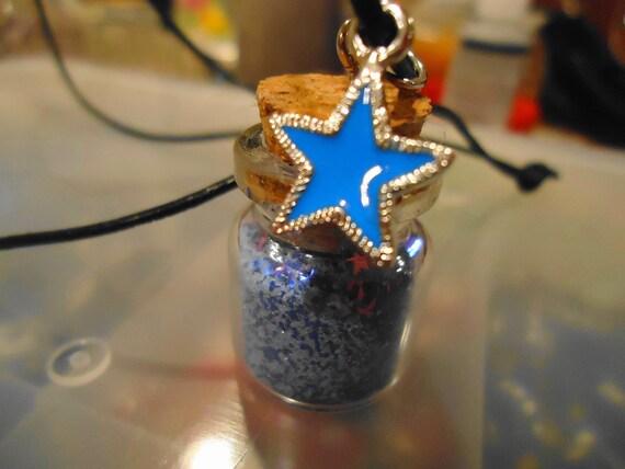 Stardust vial pendant