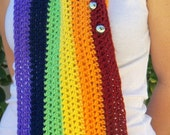I left my scarf in San Francisco :) Rainbow Scarf