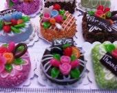 Decoden Handmade Miniature Sweet Cakes 2cm Set of 12pcs (Set A)