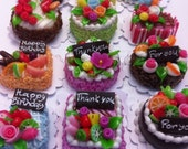 Decoden Handmade Miniature Sweet Cakes 2cm Set of 12pcs (Set D)