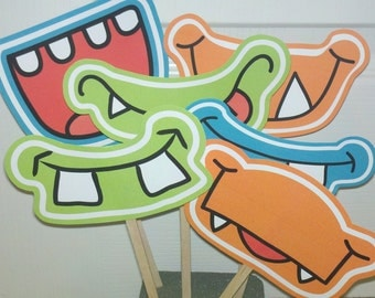 Photo Props - Monster Party - Monster Mouths-on a stick