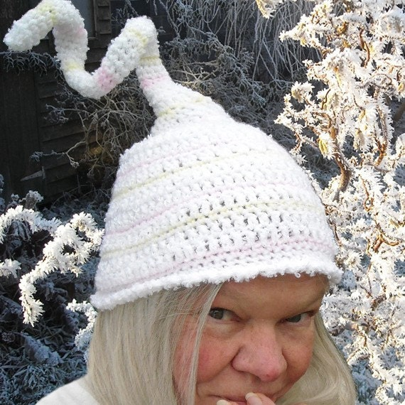 Pastel Giggles, whimsical crochet hat
