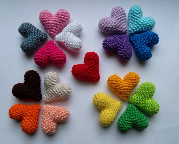 Amigurumi Heart : Items similar to Hand crochet amigurumi 3D heart on Etsy