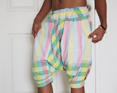 My Pants in Light Green, Pink and Yellow Tone / Soft cotton and comfortable design/Free Size