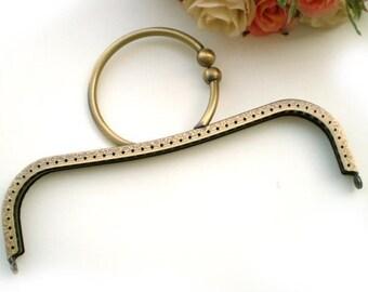 22cm(8.66inch) antique bronze sewing metal purse bag frame A005
