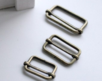 10pcs 20mm (inner diameter) antique bronze rectangle sliders for bag findings-1 AC18