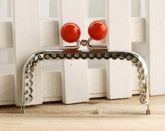 8.5cm (3.35inch)silver sewing metal purse bag frame  C13X-red2