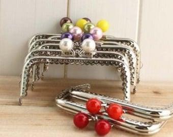 8pcs 10cm (3.94inch) silver Candy heads purse frames bag frame C14X(8 colors)
