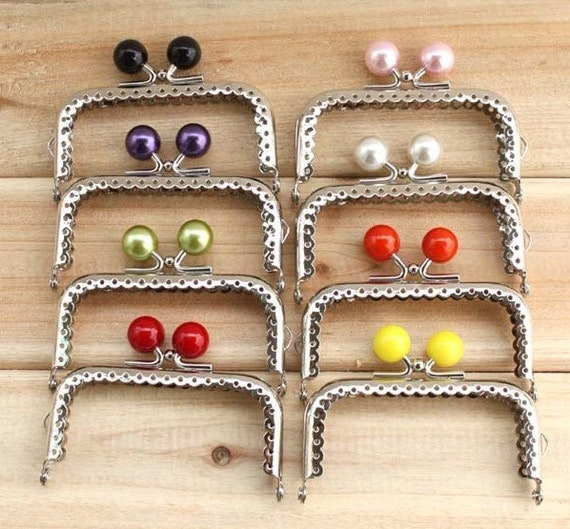 8pcs 8.5cm (3.35inch) silver Candy heads purse frames bag frame C13X(8 colors)