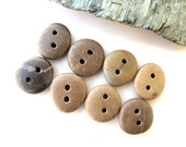 Natural Stone Buttons - SWEETIES by StoneAlone -  Beach Stone Buttons, Organic Knitting Buttons, Natural Sewing Buttons