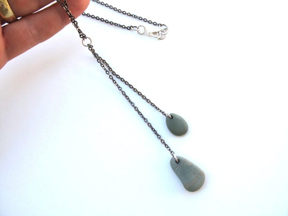 Pebble Stone Jewelry Necklace - MATCH by StoneAlone - Natural Beach Stone Jewelry, Friendship Necklace, Valentine Gift