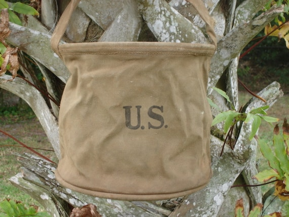 Military Canvas Water Bag, US, Army