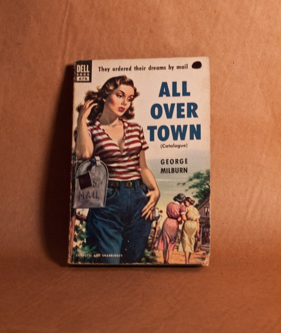 Pulp Fiction,  All Over Town, Dell 676, Catalogue, Art by George Garland, Paperback, George Milburn,  Dreams By Mail