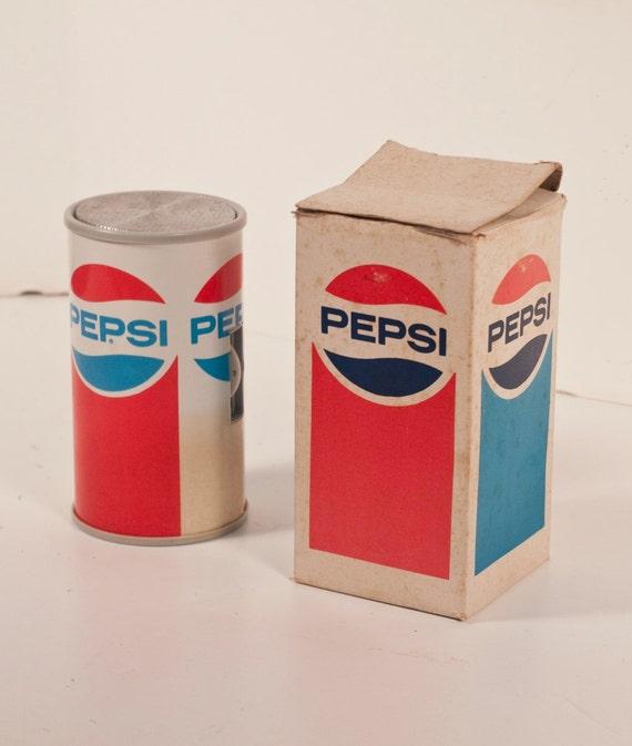 Rustic Pepsi Transistor Radio Portable Novelty 1970's Collectible Radio with box