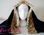 English Tudor gable hood