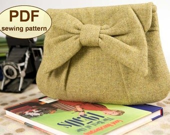Sewing pattern to make the High Tea Clutch Bag - PDF pattern INSTANT DOWNLOAD