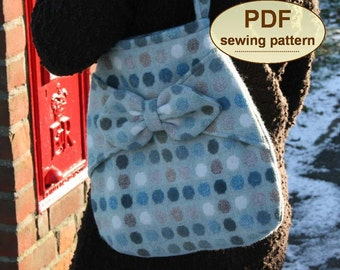 Sewing pattern to make the Village Post Bag - PDF sewing pattern INSTANT DOWNLOAD