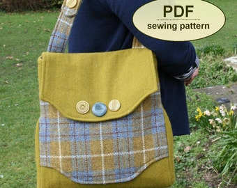 Sewing pattern to make the Rural Correspondent Bag - PDF pattern INSTANT DOWNLOAD