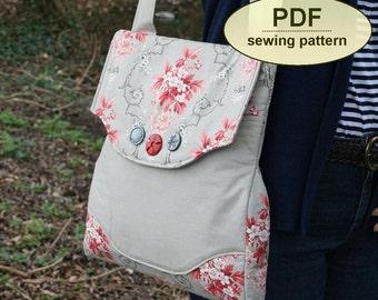 Messenger bag sewing pattern, Rural Correspondent Bag, PDF pattern, purse pattern, INSTANT DOWNLOAD