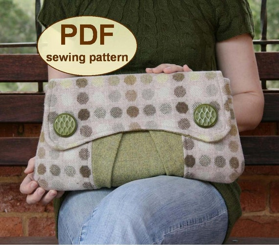 Sewing pattern to make the Casablanca Clutch Bag - PDF pattern (email delivery)