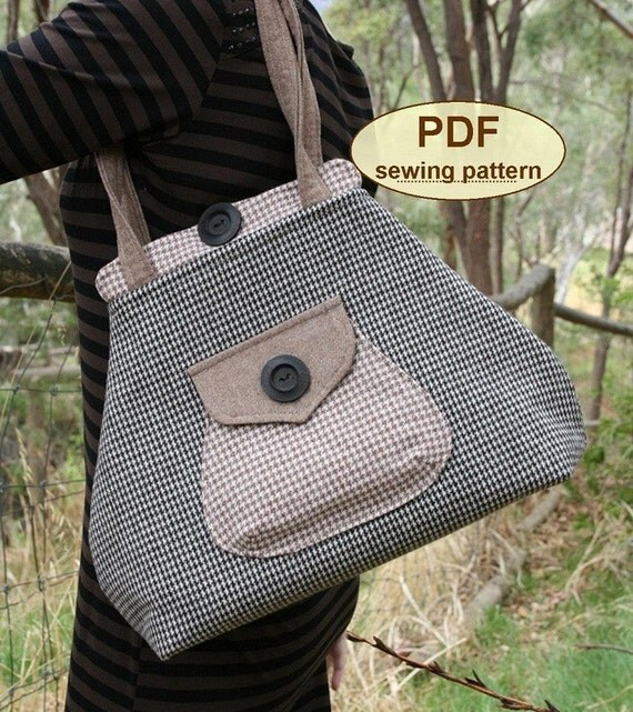 Premium Bond Bag PDF sewing pattern INSTANT DOWNLOAD