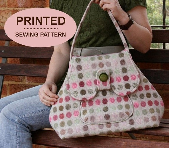 Sewing pattern to make the Premium Bond Bags - PRINTED pattern (TWO styles included)