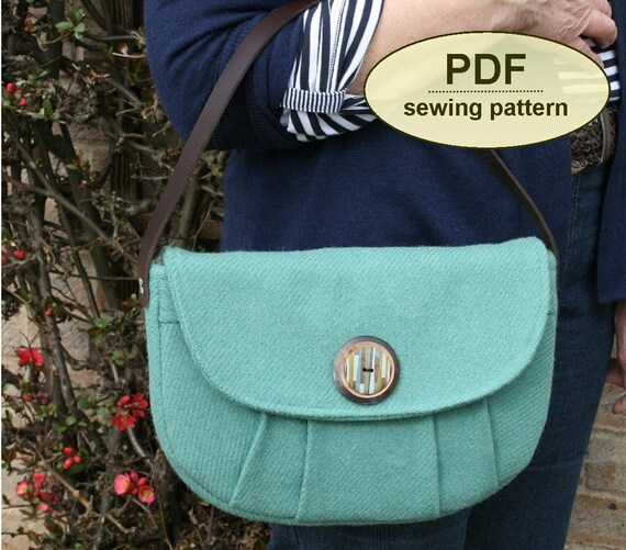 Sewing pattern to make the Boxford Clutch Bags - PDF pattern INSTANT DOWNLOAD