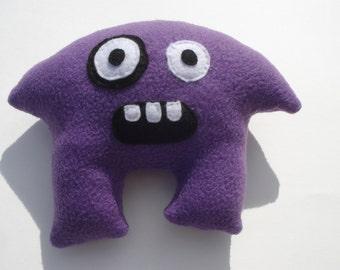 Myoki Mushroom Monster Squeaky Dog Toy - Purple