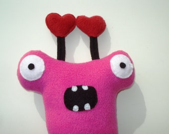 Herman Hammerhead Monster Dog Toy with Hearts - Pink