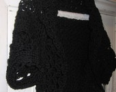 Calypso Faerie Black Shrug Bolero Holiday Gifts under 50 Cardigan Sweater Fits Women or Teens