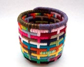 Bits and Pieces-Colorful Yarn Coiled Pencil Holder
