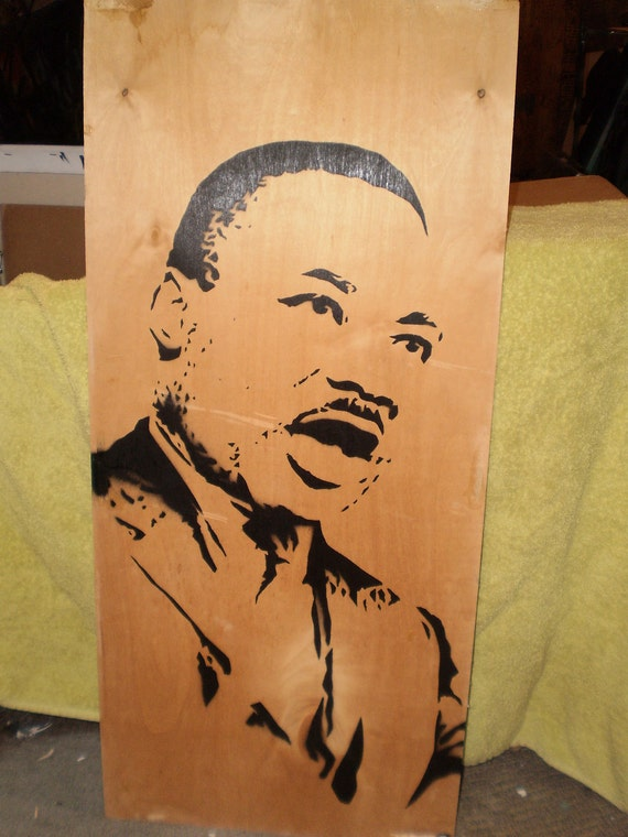 Martin Luther King (wood)