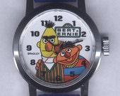 1970's vintage Bradley Bert and Ernie character watch Sesame Street