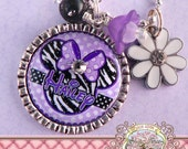 MINNIE MOUSE, Personalized ZEBRA Minnie Mouse Necklace Bottle cap, Animal Print, Cheetah, Children Jewelry, Gift Present, Easter, Birthday