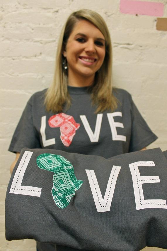 LOVE Africa T-shirt: X-Large Green