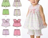 Simplicity Pattern 2625 Babies' Tops, Shorts and Hats Sizes XXS-L (0-18 Months) NEW