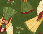 One yard fabric, Choir of Angels, Green, by Robin Betterley, for Wilmington Prints