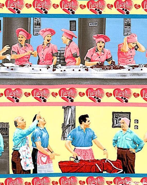 One Yard Fabric I Love Lucy Chocolate By Thefabricvineyard