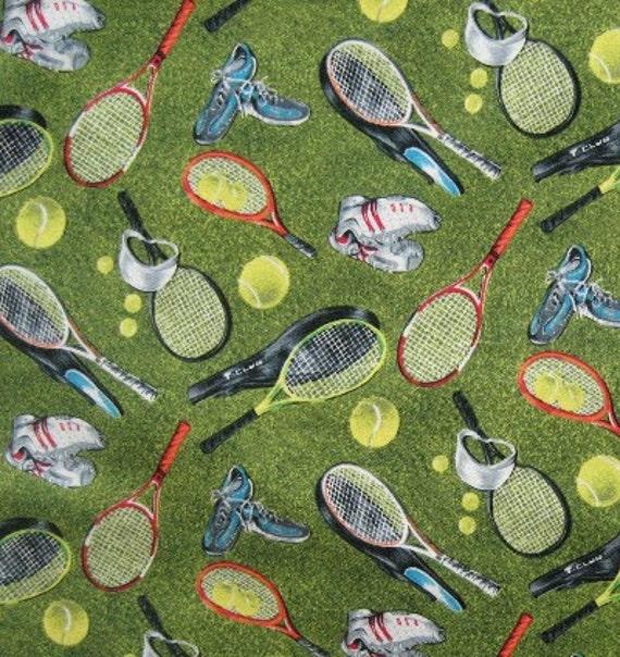 One Yard Cotton Quilting Fabric Tennis By Rjr Fabrics