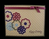 An array of Flowers Happy Birthday Handmade Card