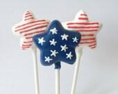 July 4th Star Flag Cake Pops ( Red White & Blue)
