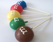 M&M Cake Pop - kids Favor pop Red, Green, Yellow,Blue and Brown