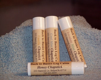 Honey Menthol Chapstick-All Natural Raw Honey