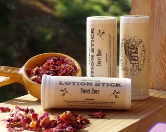 Sweet Rose Lotion Stick with Shea & Cocoa Butters