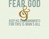 Ecclesiastes 12:13  -  11x14 Print