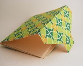 Green Journal with Handmade Paper